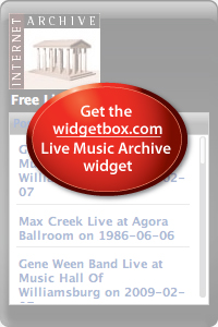 Internet Archive Live Music widget